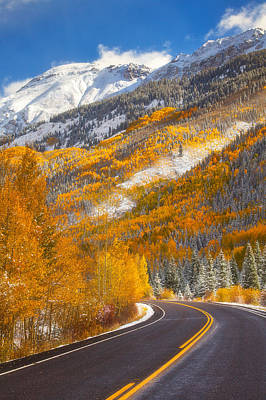 Aspen Highway Print by Darren  White