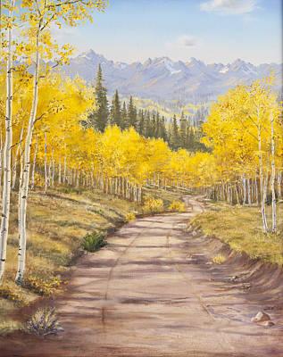 Aspen Trail Print by Frances Lewis
