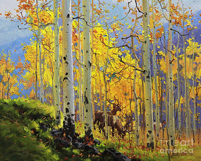 Cloudy Painting - Aspen Kingdom by Gary Kim
