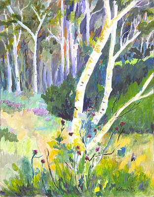 Aspens And Thistle Original by Joan Willoughby