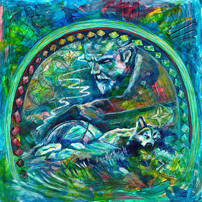 Wild Wolf Mixed Media - Aspire To Inspire Before You Expire by Elizabeth D'Angelo
