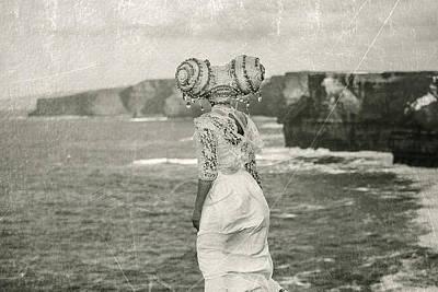 Landskape Pyrography - Asrai At Cliffs Of Moher by MrsRedhead Olga