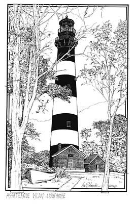 Assateague Island Lighthouse Original by Ira Shander