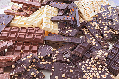 Assorted Chocolate Bars Print by Ermess Images