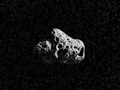 Space Photograph - Asteroid by Juan Gaertner