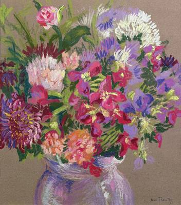 Asters Painting - Asters by Joan Thewsey