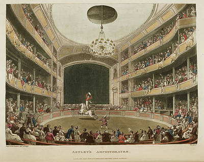 Microcosm Photograph - Astley's Amphitheatre by British Library