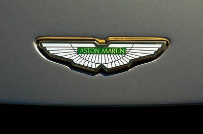 Best Car Photograph - Aston Martin Emblem by Jill Reger
