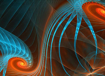 Fractal Digital Art - Astonished-fractal Art by Lourry Legarde