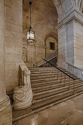 Library Photograph - Astor Hall Nypl by Susan Candelario