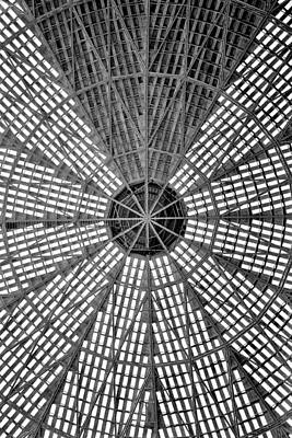 Astros Photograph - Astrodome Ceiling by Benjamin Yeager