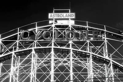 Roller Coaster Photograph - Astroland Cyclone by John Rizzuto