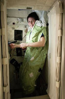 Astronauts Photograph - Astronaut Samantha Cristoforetti On Iss by Nasa