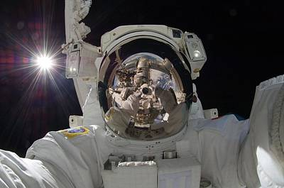 Meteor Photograph - Astronaut  Selfie by Celestial Images