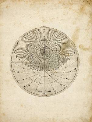 Chart Photograph - Astronomical Chart by Rare Book Division/new York Public Library