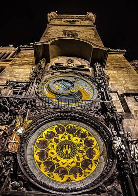 Prague Digital Art - Astronomical Clock by Matthew Gulosh
