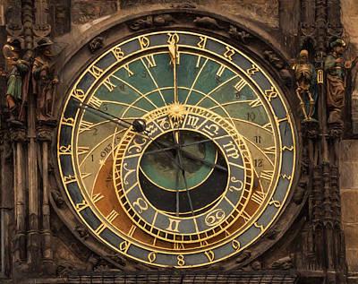 Astronomical Clock Print by Shirley Radabaugh