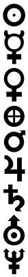 Zodiac Digital Art - Astronomy Planet Symbols 2 by Daniel Hagerman
