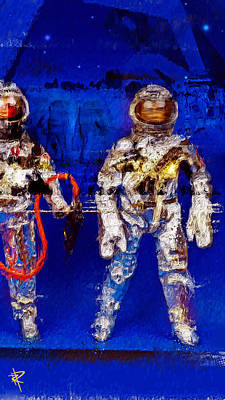 Science Fiction Mixed Media - Astrotwins by Russell Pierce