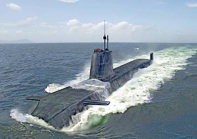 Astute Class Submarine Print by Herb Paynter