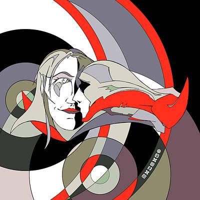 Asymmetry Print by Denis Kozlov
