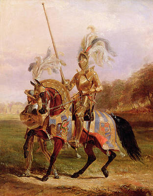 Joust Painting - At Eglinton, Lord Of The Tournament by Edward Henry Corbould