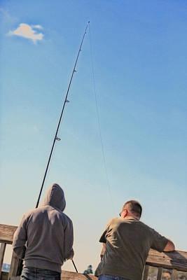 At Fishing Print by Karol Livote