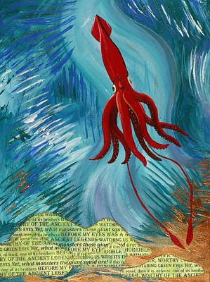 Giant Squid Painting - At Least One Of Its Brothers by Julianne Hunter
