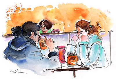 Nashville Drawing - At Nashville Ihop by Miki De Goodaboom