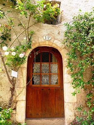 Door Photograph - At Number 12 by Cristina Stefan