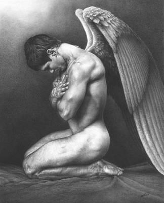 Angels Drawing - At Peace by Maciel Cantelmo