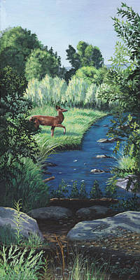 Glade Creek Painting - At Peace by Timithy L Gordon