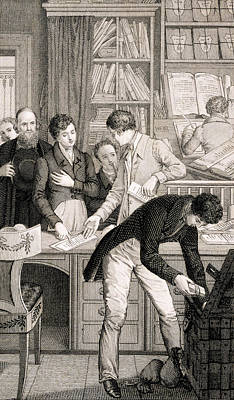 Desk Drawing - At The Bank, C.1800 by English School