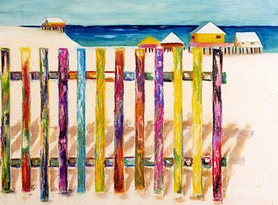 Abstract Beach Art Abstract Beach Painting - At The Beach by Frances Marino