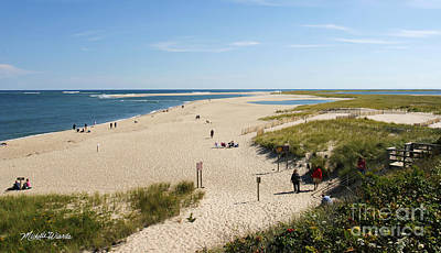 At The Beach In Chatham Cape Cod Massachusetts Print by Michelle Wiarda