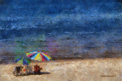 Chaise Digital Art - At The Beach Photo Art 04 by Thomas Woolworth