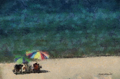 Chaise Digital Art - At The Beach Photo Art 05 by Thomas Woolworth
