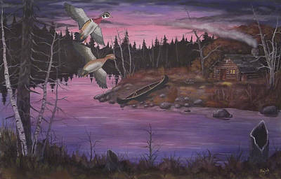 Albatross Painting - At The Cabin by Rudolph Bajak
