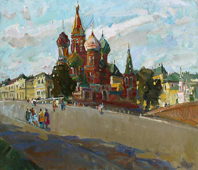 At The Cathedral Of Vasily The Blessed Original by Juliya Zhukova
