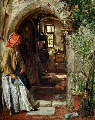 Jacques Painting - At The Doorway by Celestial Images