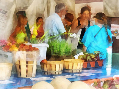 Stall Photograph - At The Farmer's Market by Susan Savad