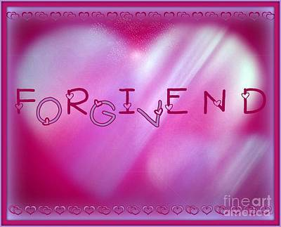 At The Heart Of Friendship Print by Linda Galok