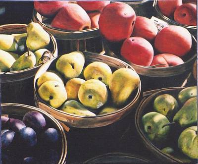 At The Local Farm Stand Original by Stacy Crane