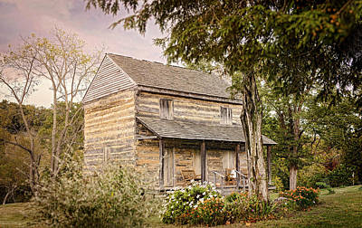 Log Cabin Photograph - At The Log House by Heather Applegate
