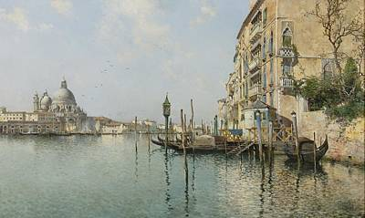At The Mouth Of The Grand Canal Print by Celestial Images