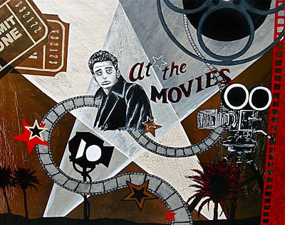 At The Movies Print by Sheena Pape
