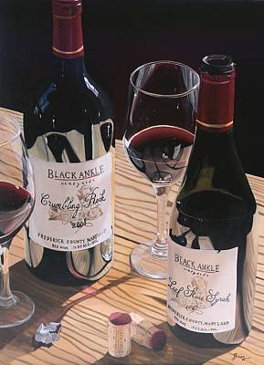 Virginia Wine Painting - At The Right Time by Brien Cole