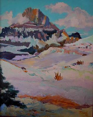 At The Top - Glacier National Park Print by Francine Frank