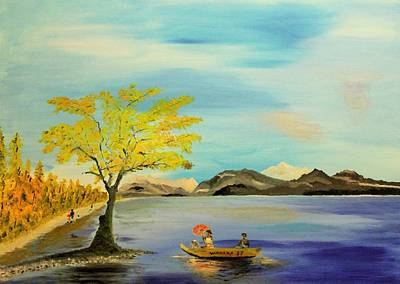 Albania Painting - At Wanaka Lake by Ilir Jacellari