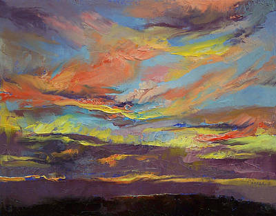 Inca Painting - Atahualpa Sunset by Michael Creese